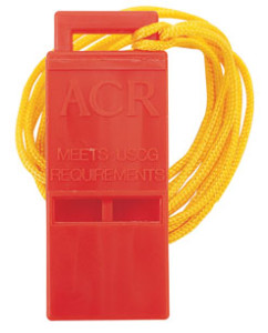 Whistle, required gear, safety gear, required safety gear, kayak gear, kayak safety