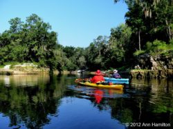 Tweety Bird (yellow boat) on the Suwannee River