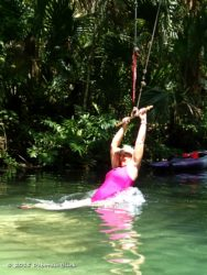 Rope swing at The Crack