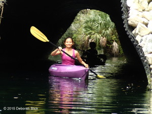 Paddling through the tunnel