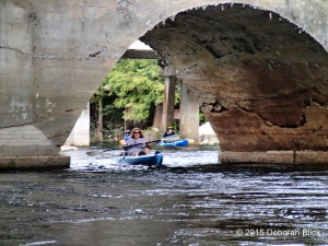 Going under the RR bridge on the Ich
