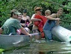 A familiar sight on Juniper Creek, but it's all just part of the fun