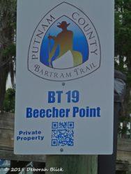 Newly designated Bartram Trail sign