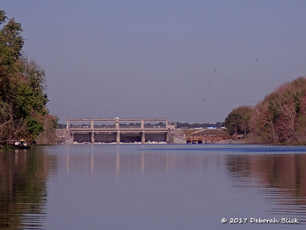 A view of Rodman Dam from downstream