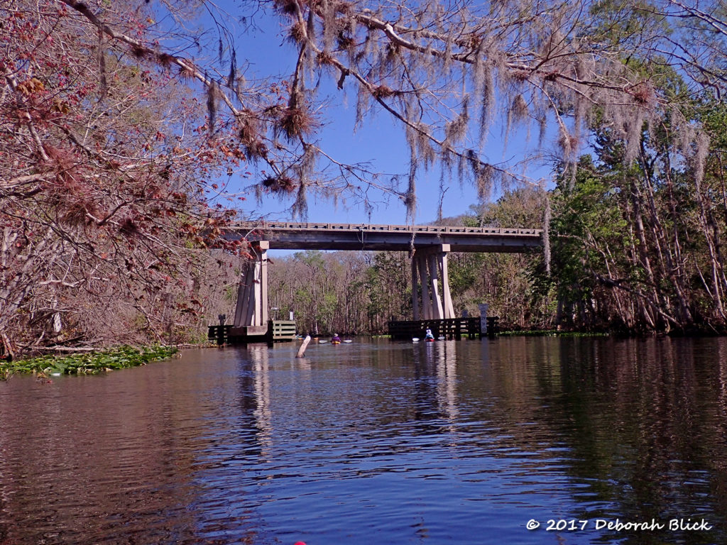 The SR 19 bridge from the Ocklawaha River