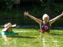Enjoying cooling off at Poe Springs