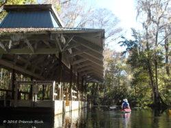Old tour boat landing on the Ft King Canoe Trail