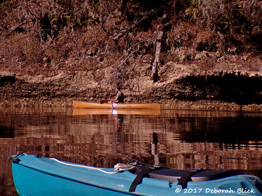 Beautiful kevlar canoe kevlar canoe against Suwannee rock formations
