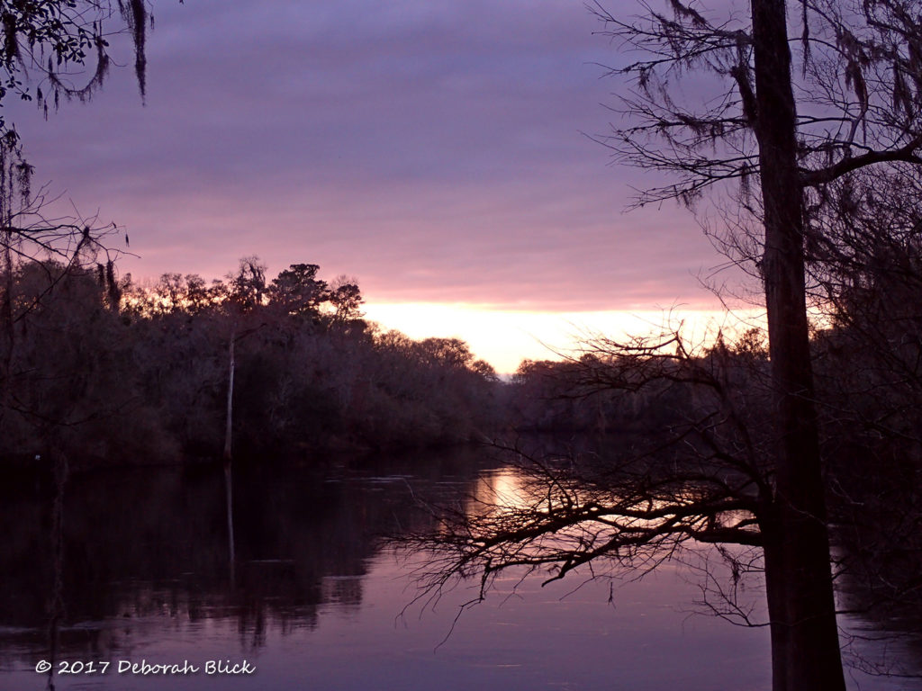 Sunset over the Suwannee River from Peacock Slough River Camp