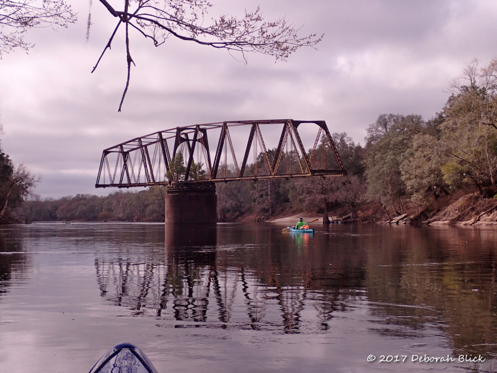 The old Drew Bridge - a railroad swing bridge abandoned in 1920