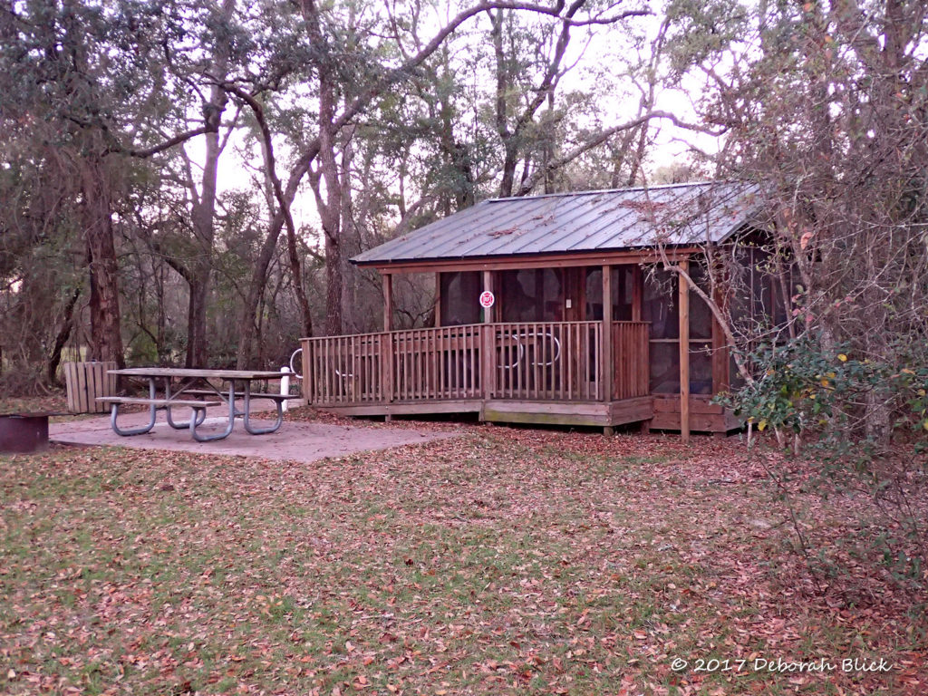 Sleeping platform at Adams Tract River Camp
