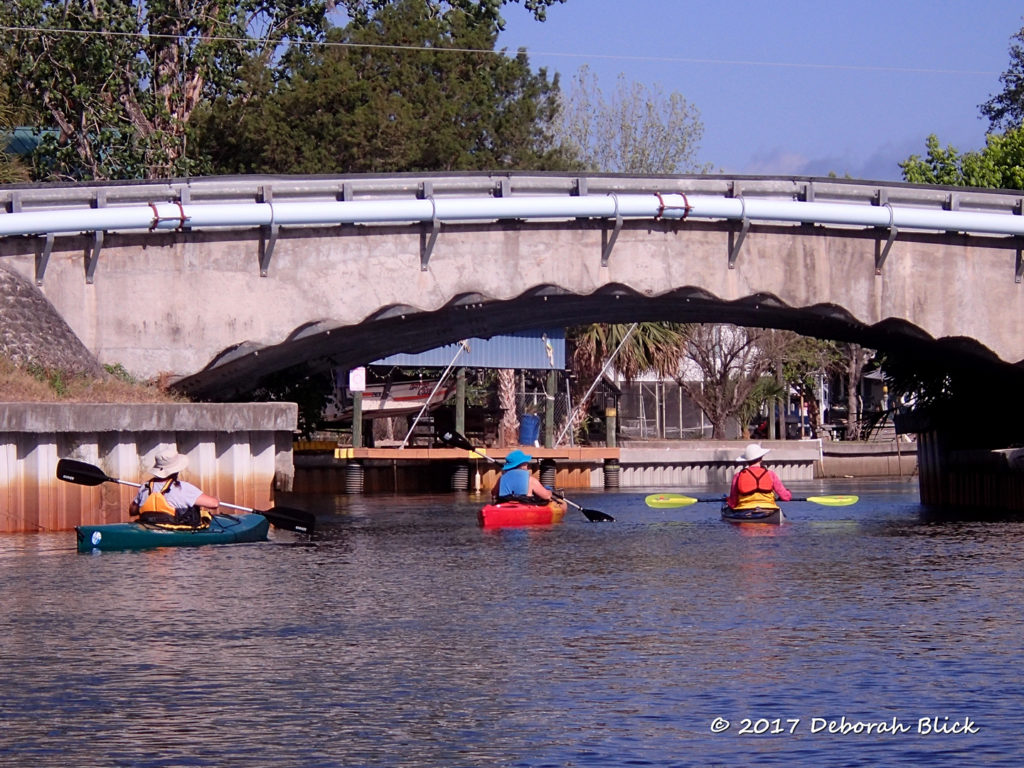 Passing under one of the bridges in Suwannee