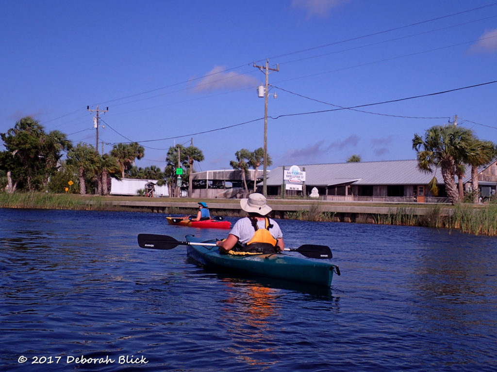 Paddling past the Salt Creek Restaurant