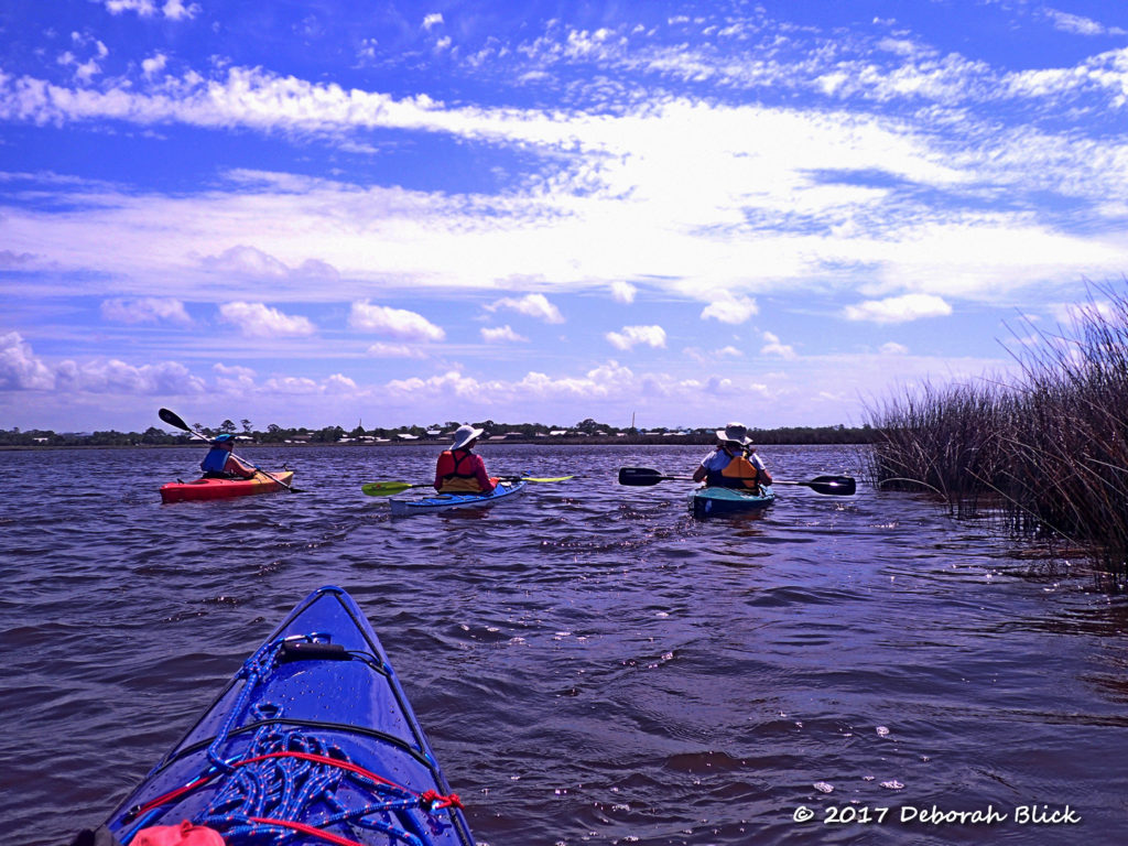 In the lee of the salt marshes, heading back towards Suwannee
