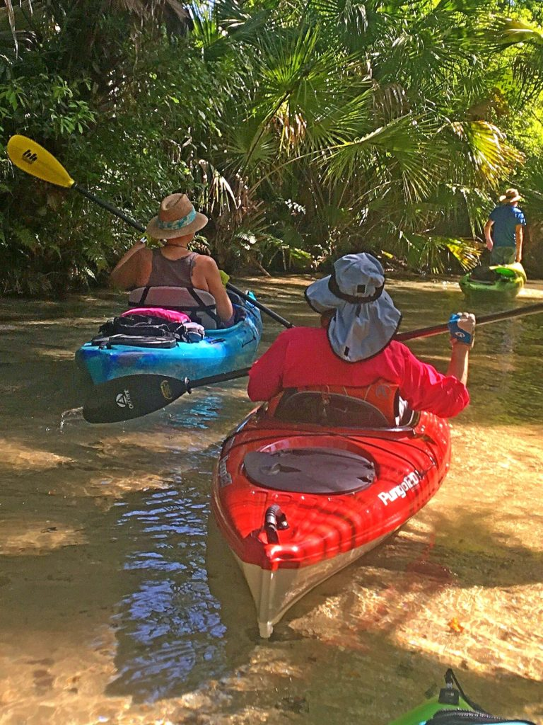 At low water, sometimes walking your kayak is an alternative to trying to stay to the outside bend for water deep enough to float your boat.