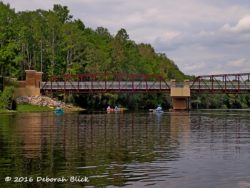 WIthlacoochee State Trail bridge - paved bicycle trail that crosses the river near Dunnellon.