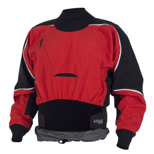 Dry top - waterproof top with nylon or neoprene cuffs and neck.
