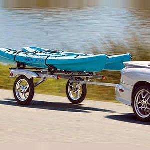 Commercial kayak trailer